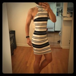 Need you navy and white striped dress. NWT